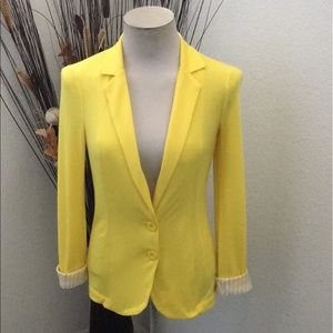 ⭐️Material Girl Sunshine Yellow Cotton+ Blazer